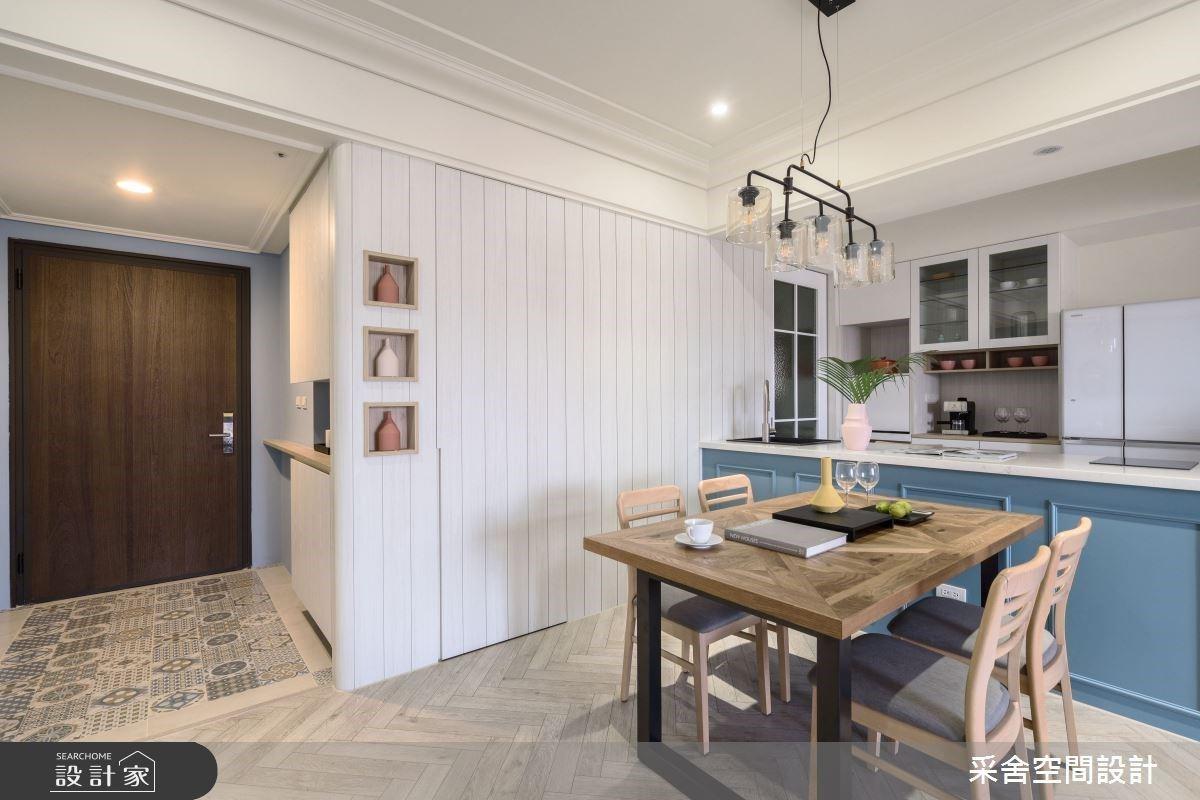 第一次裝修就能客變出美式風好宅!花磚玄關、美型中島實現三代同堂的願景