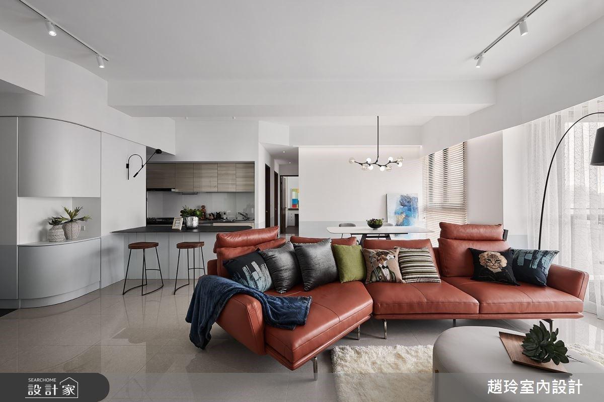 雜誌裡的現代風生活!形隨機能的收納設計,成就三代同堂寬敞共居空間