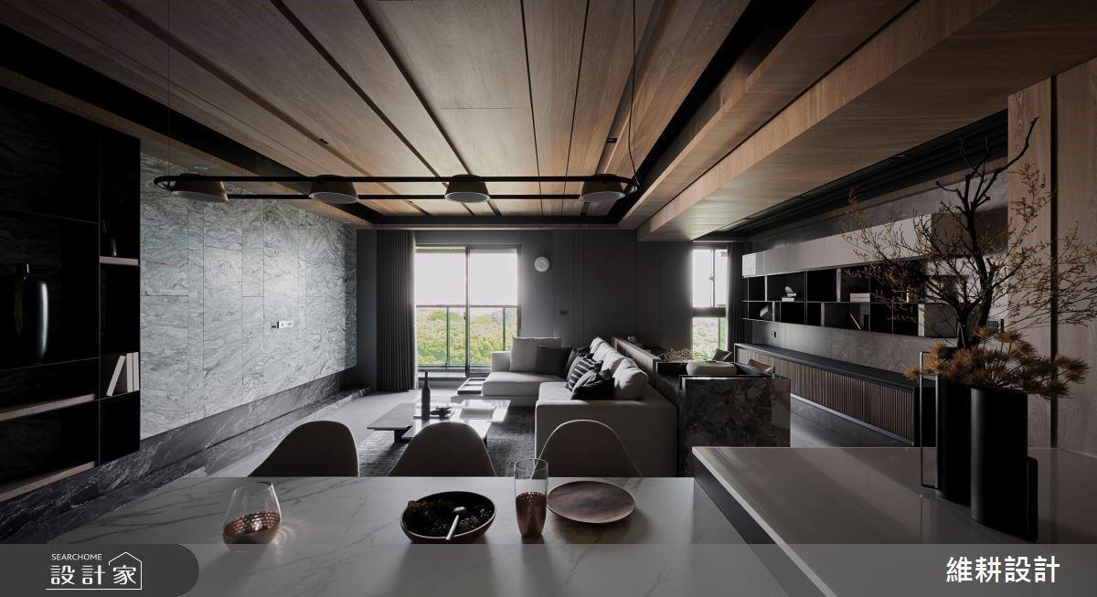 27坪展現百坪器度!木紋與石材堆疊創作 打造自然靜謐的人文現代風私宅