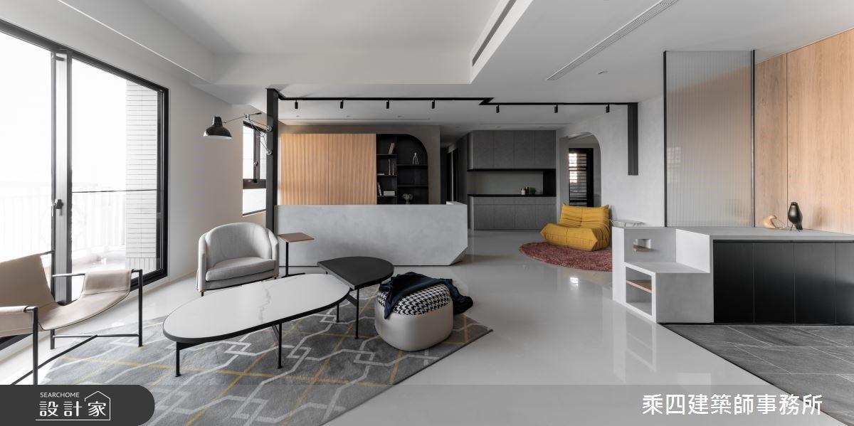 向美好的單身生活致敬!寧靜日光下,暖灰階、木格柵共築38.5坪現代風居家