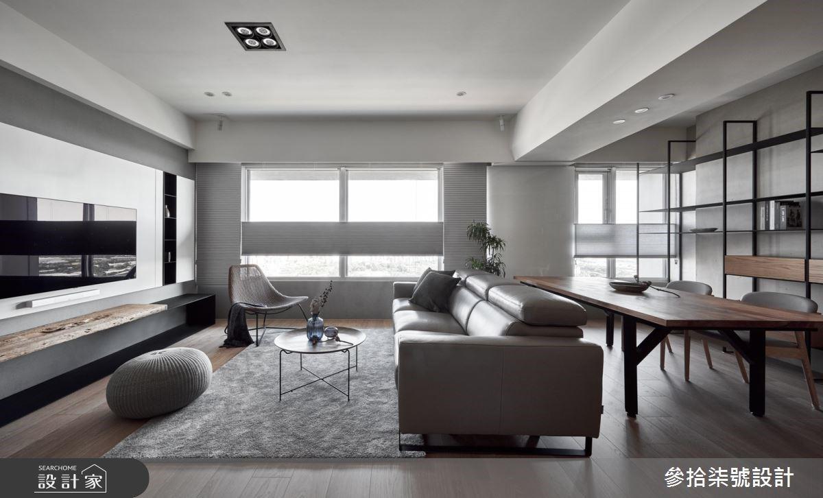 自然純粹的現代北歐風!暖灰、純白和實木,創造超療癒的30坪三口之家