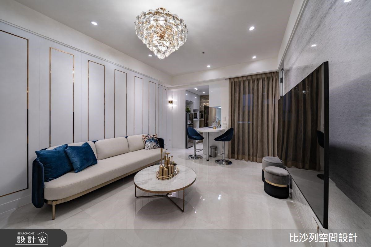 不到 30 坪,也能享受奢華豪宅!隱藏動線、延伸吧台,跳脫新古典的空間想像
