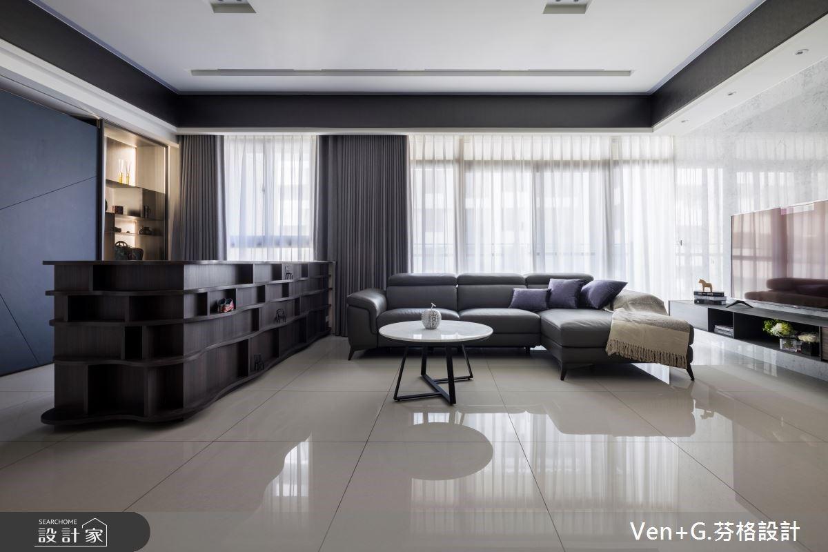 35坪藍調理性現代宅,照明設計讓白天夜晚帶給你全然不同的居住感受