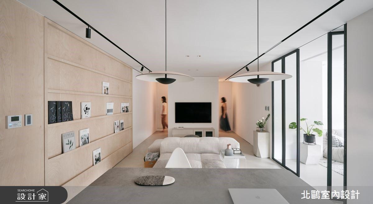 31坪木質調北歐日光宅,大面積留白、活動書牆陪你回歸慢生活步調