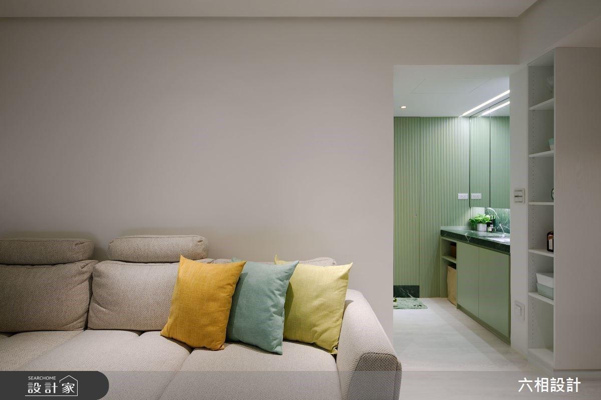 簡約湖水綠遇上典雅花磚!25坪中古屋翻新,創造屬於我倆的溫柔視野