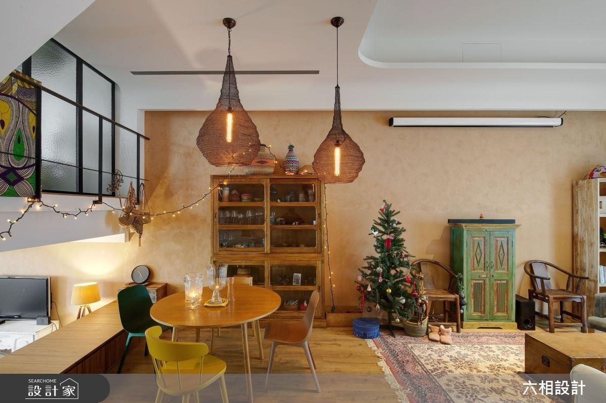 大地色系整合中式、北歐風等家具,實現居住國外般的混搭風獨棟別墅
