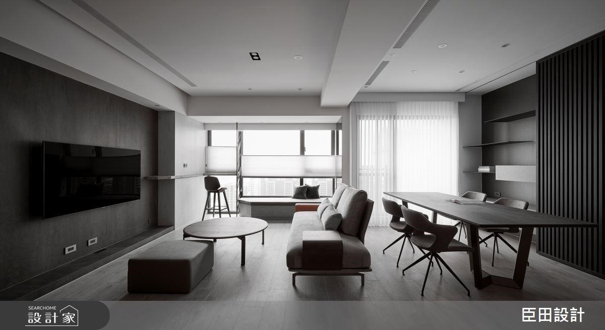 私人酒吧小酌、窗邊臥榻觀景!25坪簡約現代風,好採光與木質共譜沈靜調性