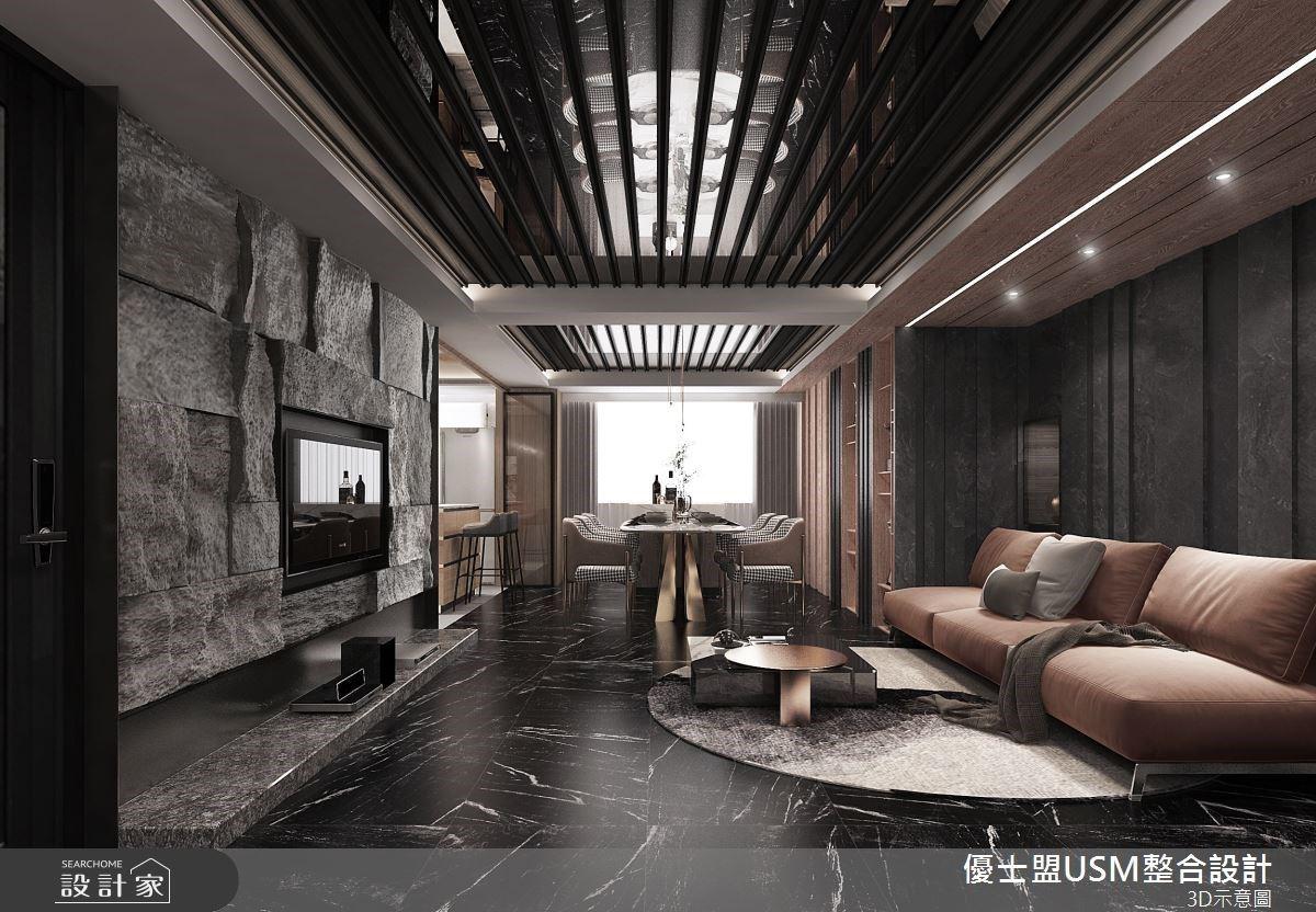 30 坪現代風老宅比飯店更奢華!氣派客廳、雙洗手台衛浴、專屬膠囊房獻給旅外賽車手
