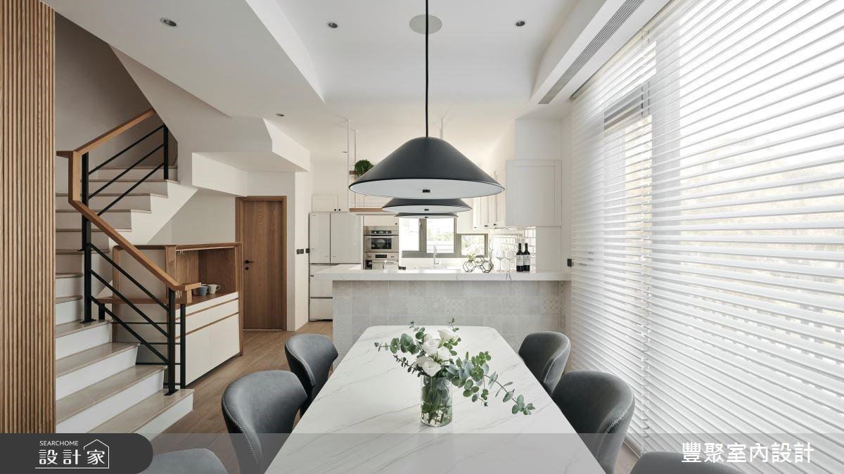 第三次裝潢,終於找對了!輕美式廚房、回字型主臥,讓透天別墅煥然一新