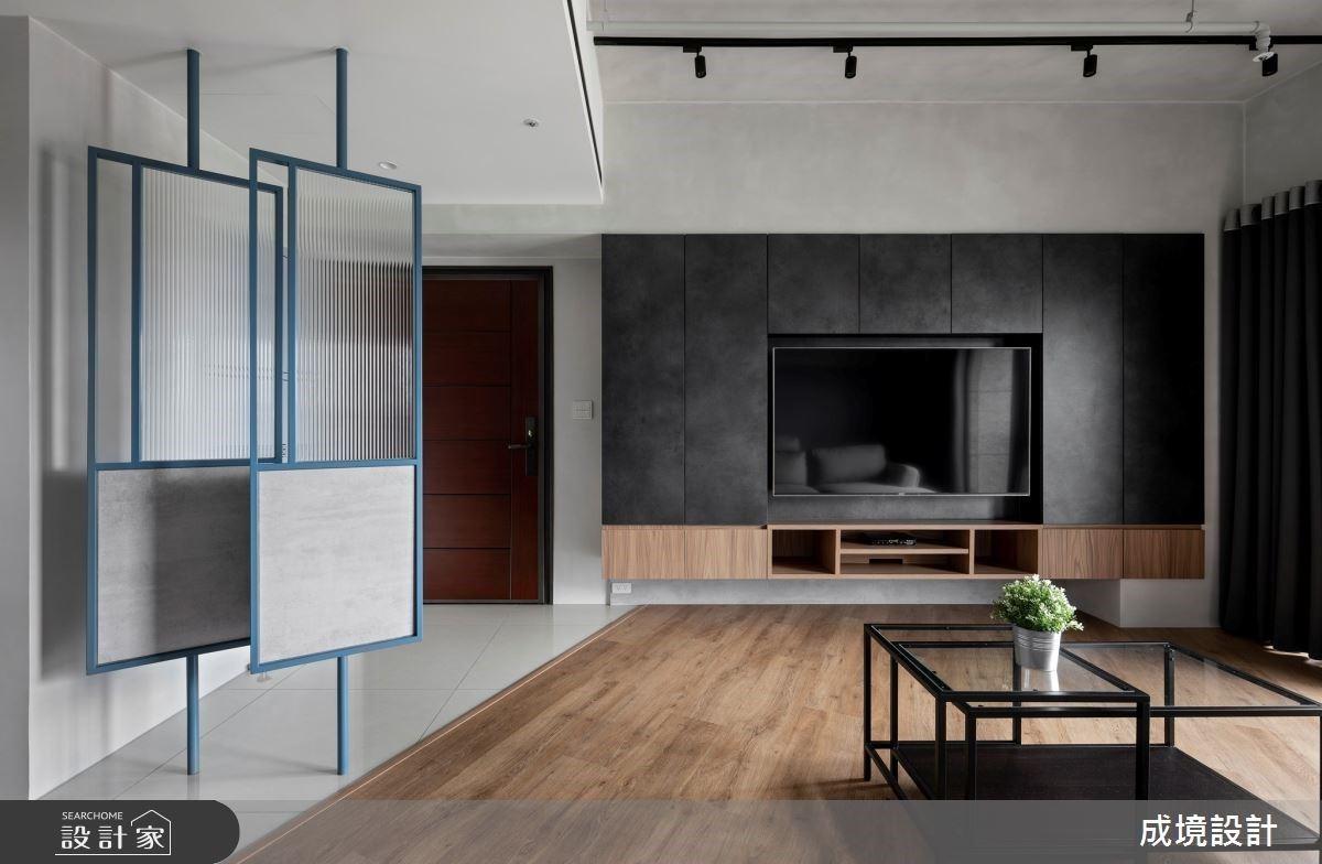 愛上時髦牛仔藍!化解樑柱壓迫感,打造 18 坪工業風個性單身宅