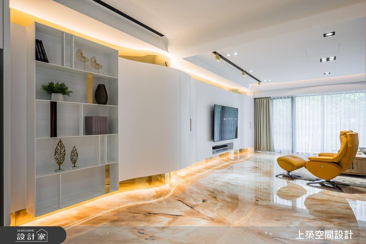 揭開北歐風的奢華面貌!巧搭時尚金和大理石材,形塑80坪超美型透天豪宅
