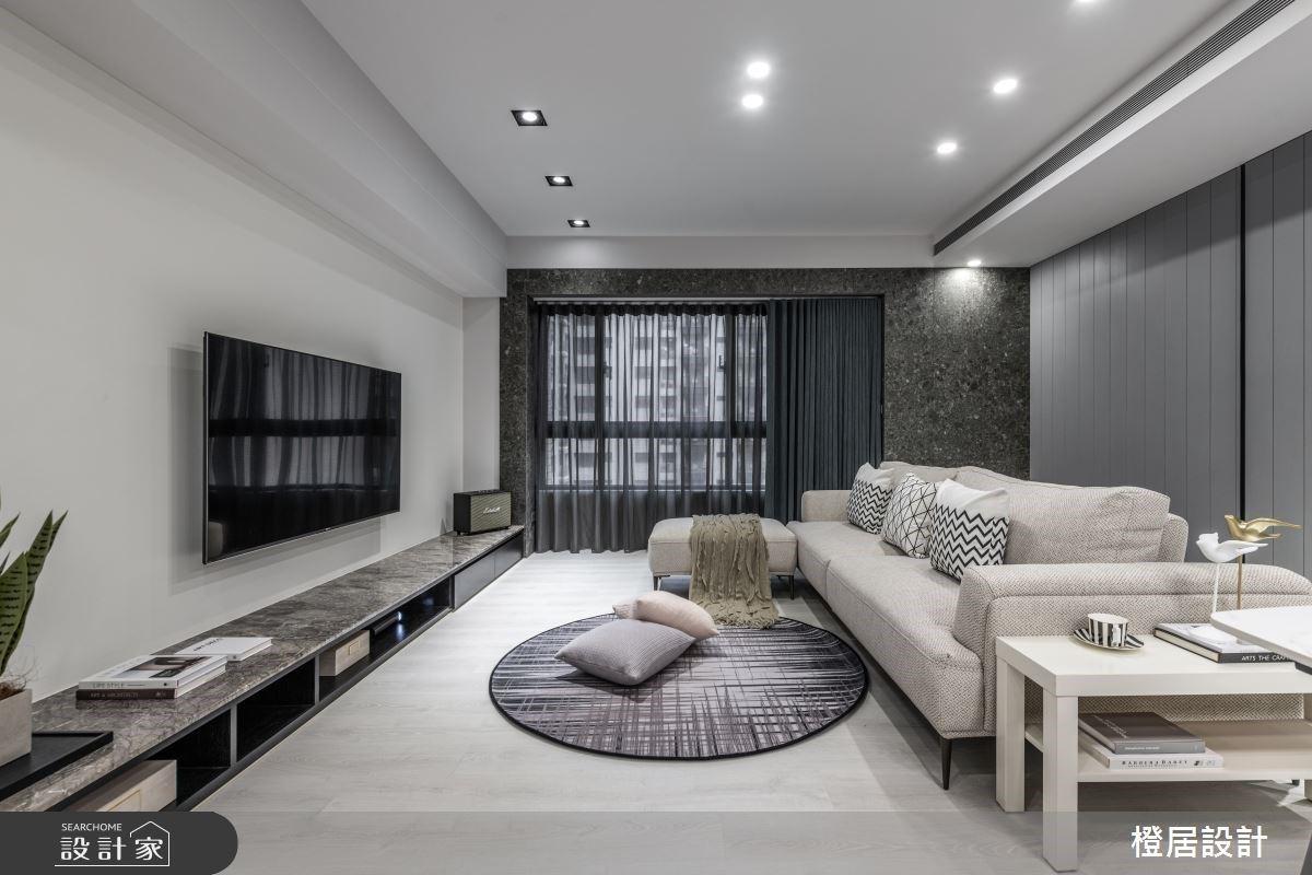 渾然天成的輕奢時尚感!以經典黑白灰打底,28坪中古屋翻新簡約現代宅