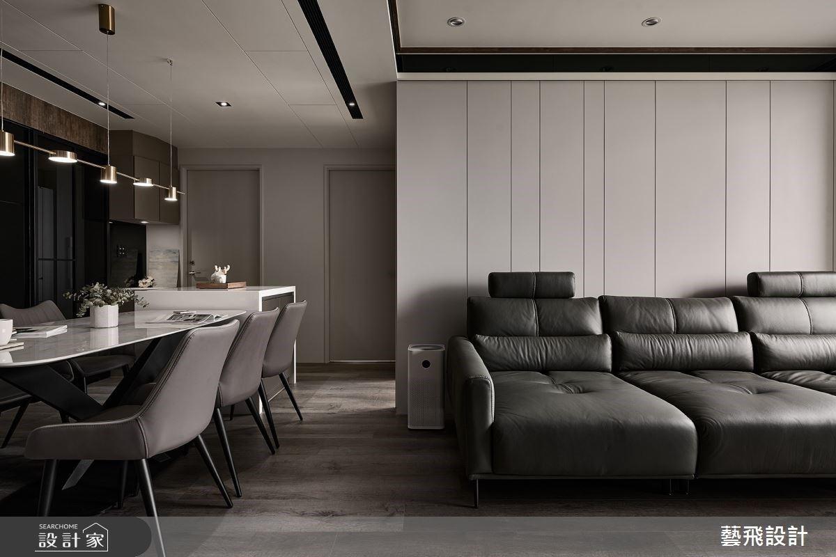 俐落線性、隱藏式設計的最佳比例 構築 25 坪和諧現代宅的時髦風尚