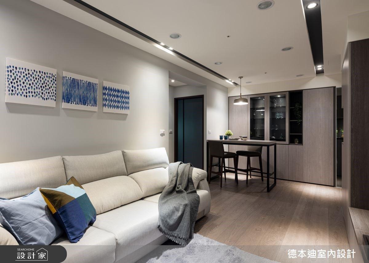 客製收納櫃體化解樑柱問題,為烹飪愛好者打造 16 坪現代舒適單身宅