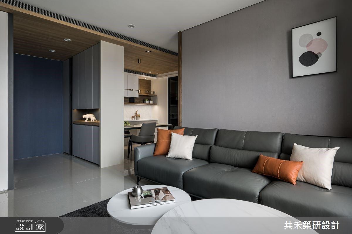 時尚暖灰調、收納好機能,構築 28 坪現代單身宅的舒適生活宣言