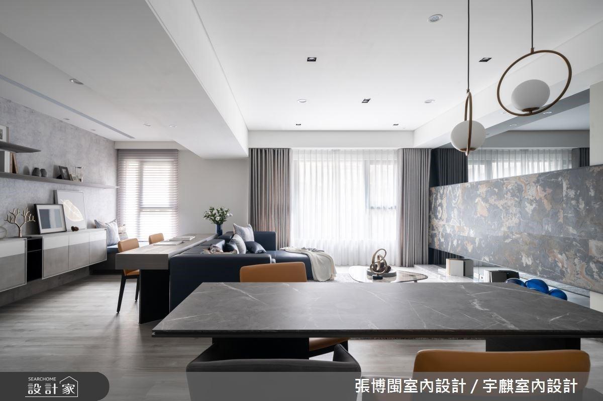 33.2 坪放進 4 房 2 廳也不擁擠!在寬敞大客廳享受現代居家的舒適蔚藍