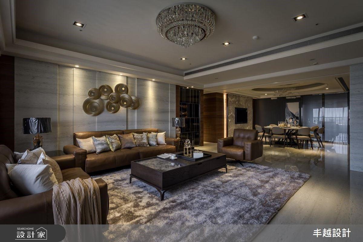 時尚現代風的豪宅氣場!色彩、建材堆疊沈穩內斂的空間個性