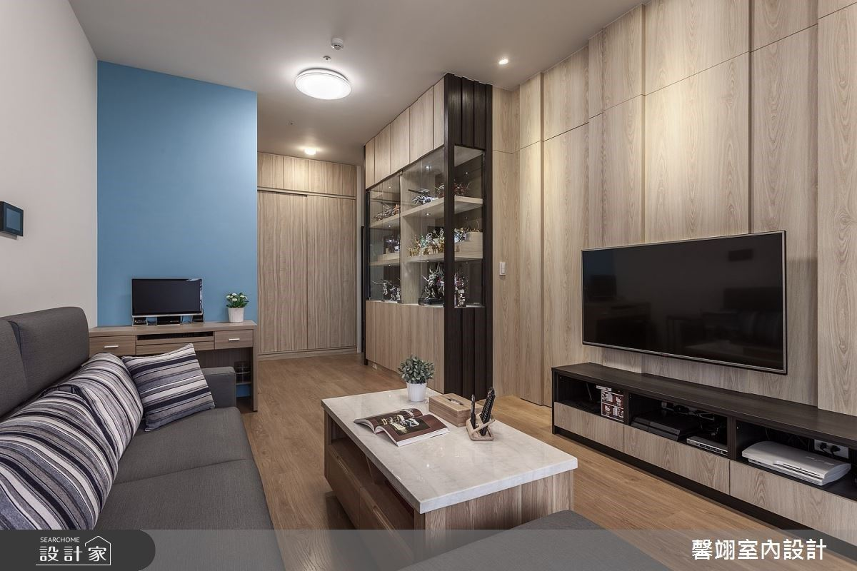 圓一位單身男子的公仔夢,用20坪小空間打造3房機能與極致收納