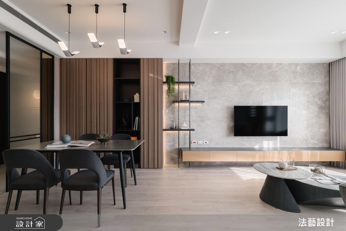 溫潤木質、玻璃書房與美學收納,創造舒心、暢快的現代風美宅