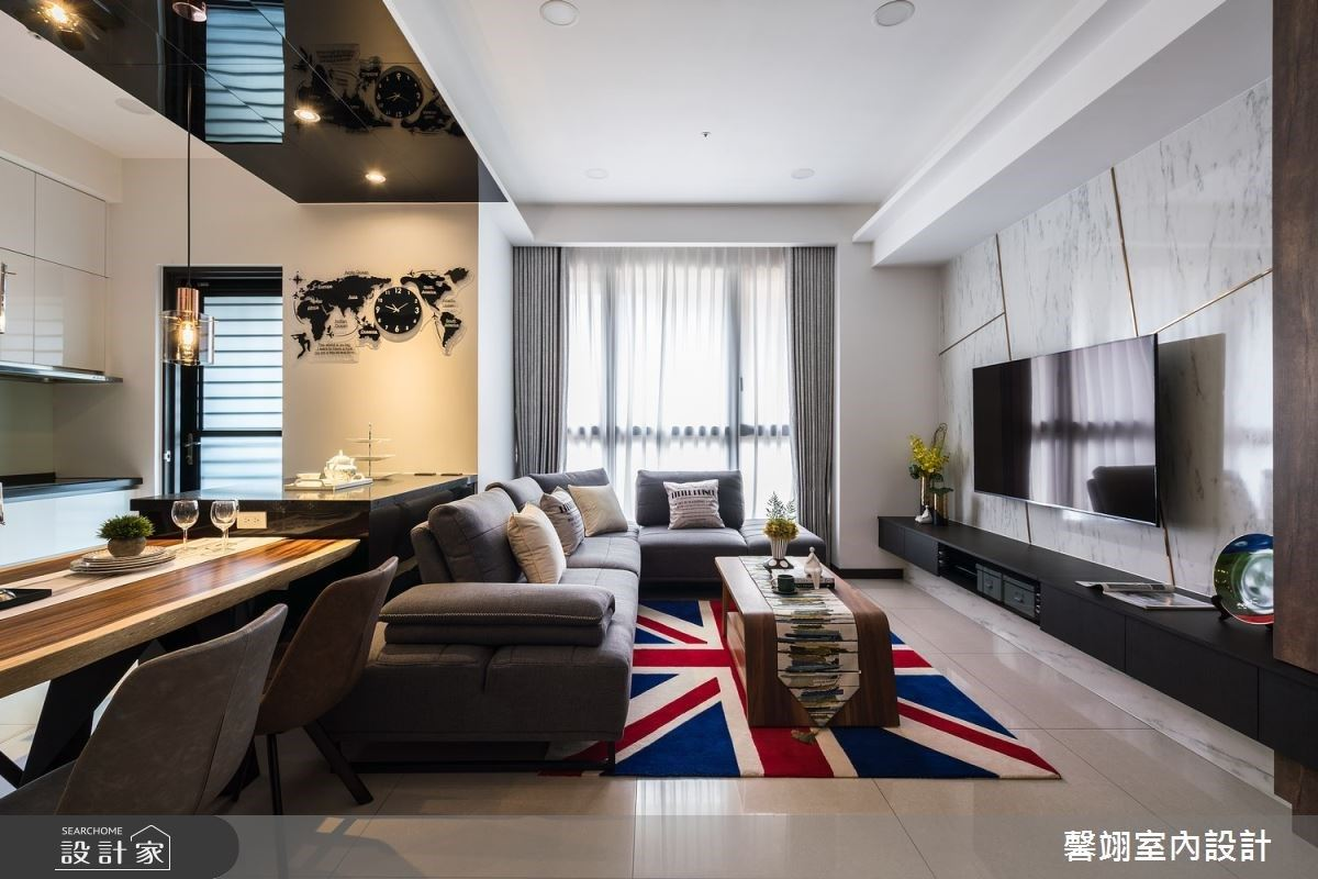 倫敦藍成就不一樣的北歐風,烤玻與鍍鈦金屬打造時尚精緻的居宅面貌