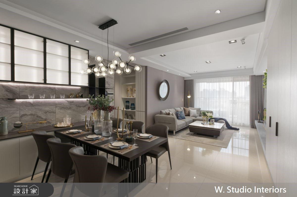 自帶大器視野的時尚感!63坪輕奢現代風,漂亮解決收納和風水難題