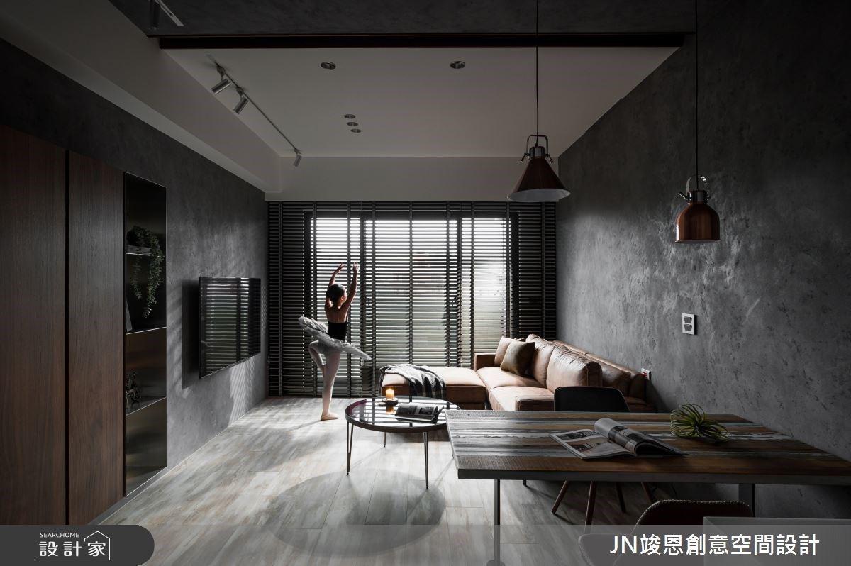 25坪精品工業風,化解開門見灶、每間臥室都有更衣室