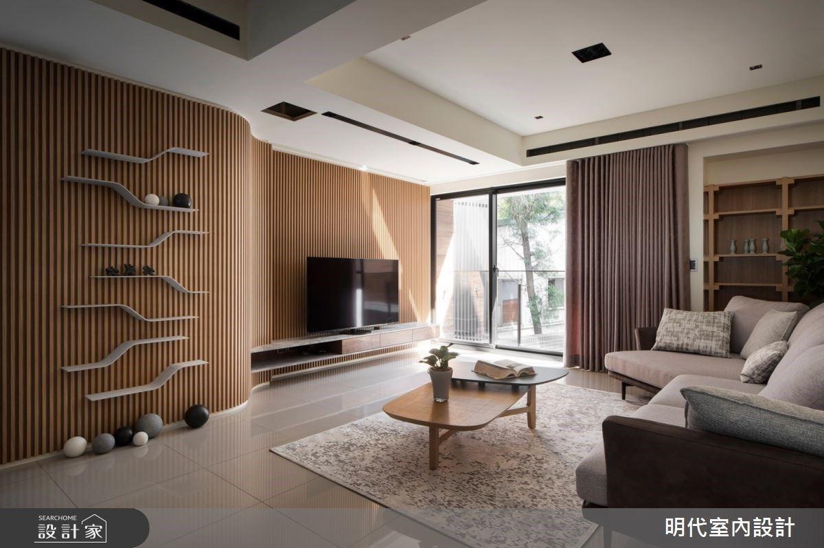 我家洋溢一股咖啡香氣,現代簡約宅展現醇厚的木質感與設計層次