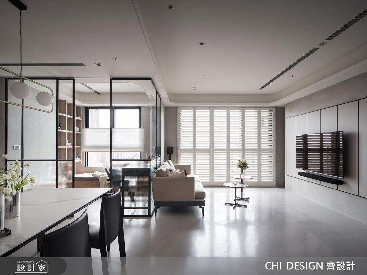 輕啟優雅的女性生活態度!揉合玻璃書房與溫柔灰白色,打造專屬現代風時尚宅邸