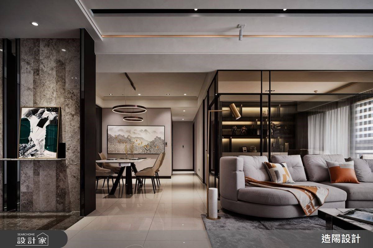 76坪奢華現代宅,細膩石紋交織高質感的生活品味與空間美學