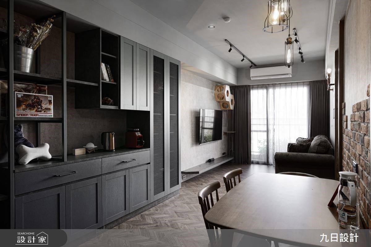 16坪小宅也有完善客餐廚機能及兩房兩廳!文化石鋪陳獨具魅力的Loft風空間