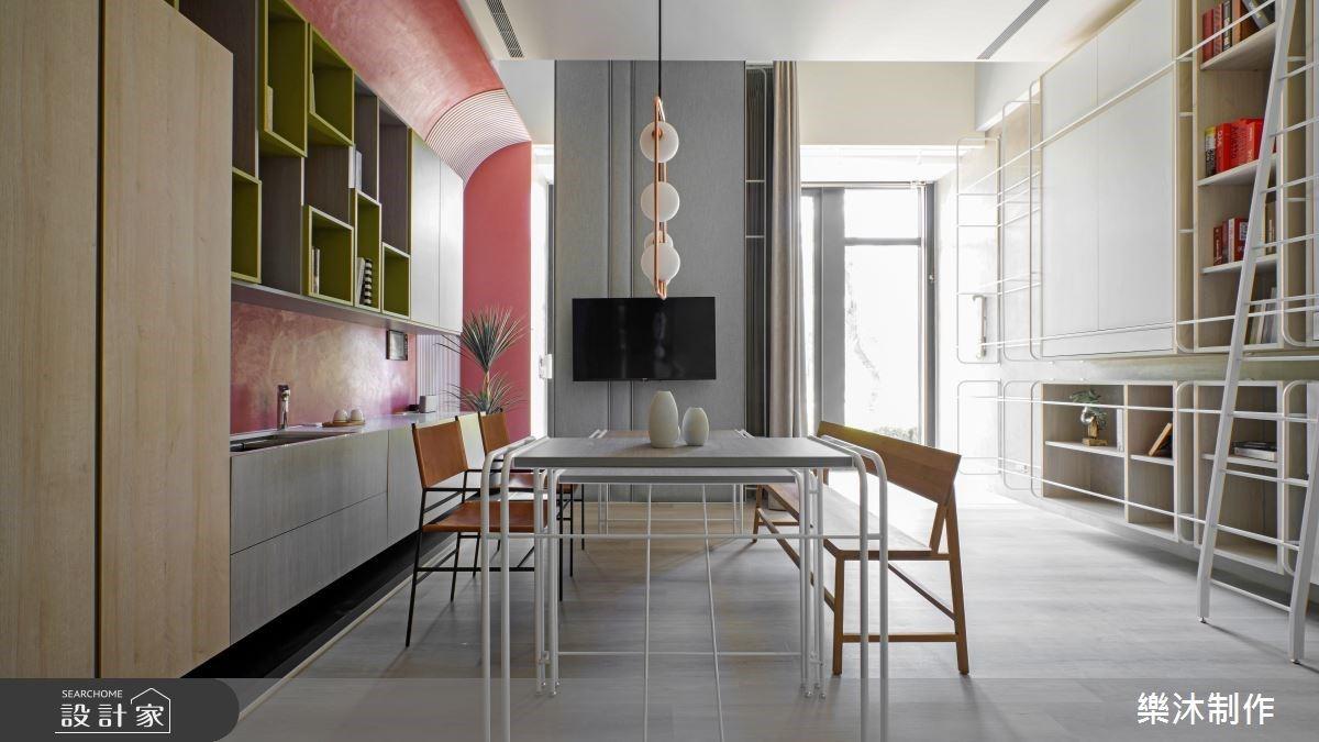 60坪混搭宅的全新面貌!導入明亮採光化身寬敞的商業空間