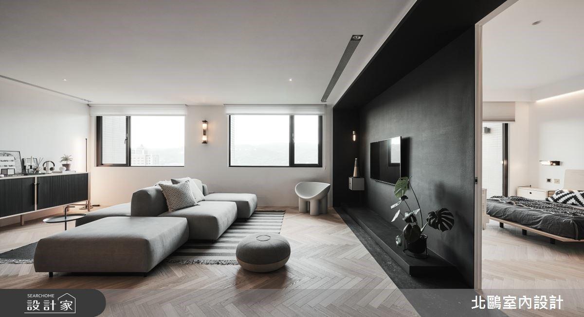 開箱黑色的北歐風!高質感中島、超美臥室,讓家像電影畫面