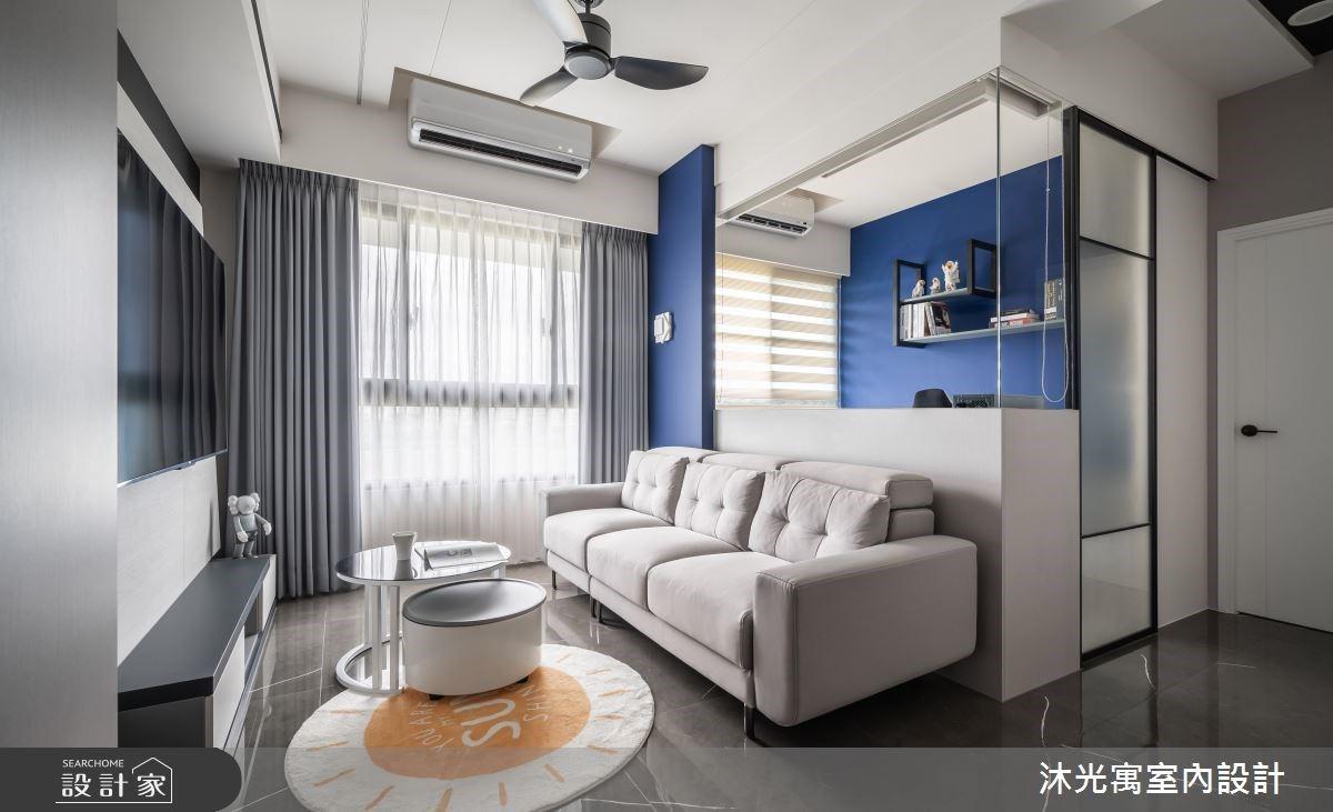 單身男子的創意居所! 吧檯式餐桌、書房兼客房、機能收納都在18坪現代宅
