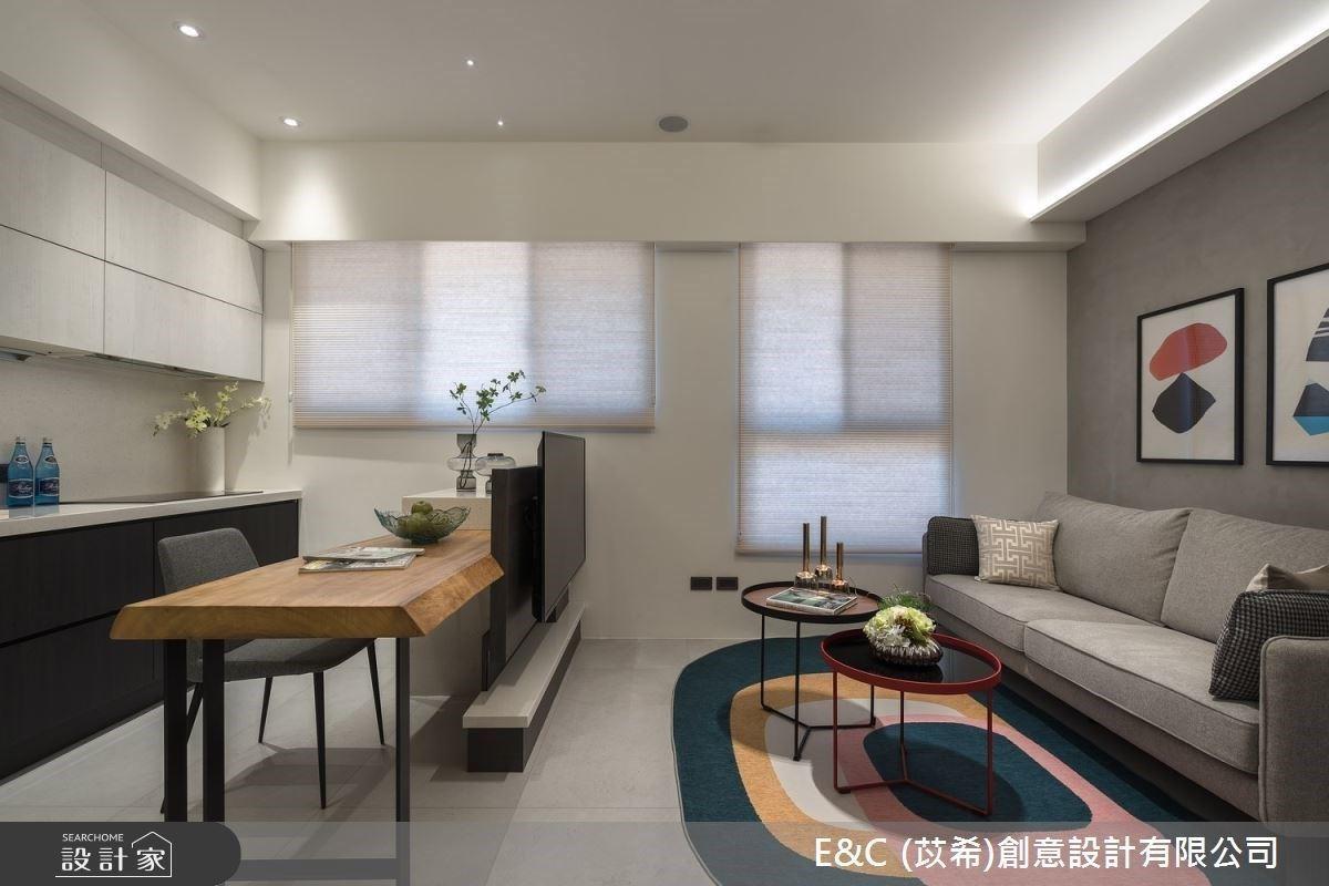 14坪空間也能變得不一樣!灰階現代宅化身舒適愜意的渡假飯店