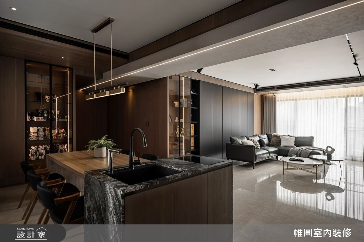 以精緻細節表達完美品味! 65 坪現代風大宅,抒寫你的時髦生活態度!