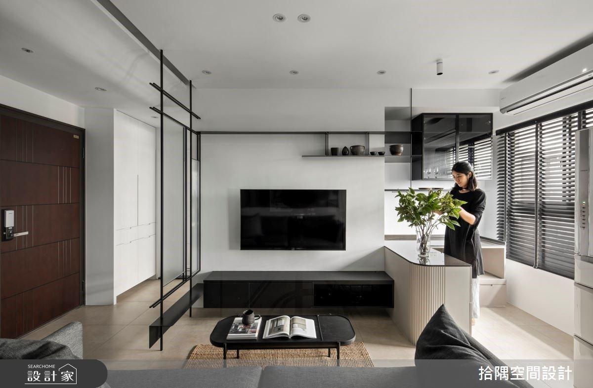 舒適又明亮!13坪質感灰階現代單身宅 開放穿透設計,空間變更大!