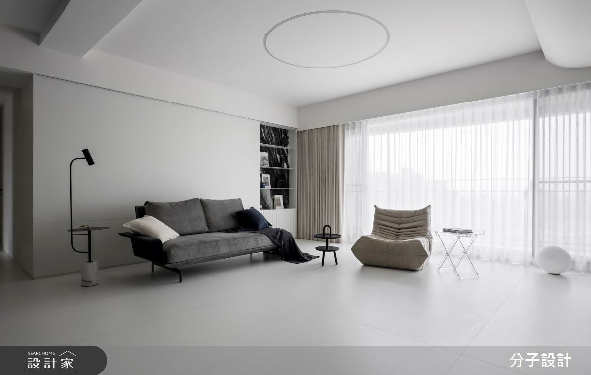 減法設計讓家更有態度!透過異材質創造豐富的黑白風格現代宅