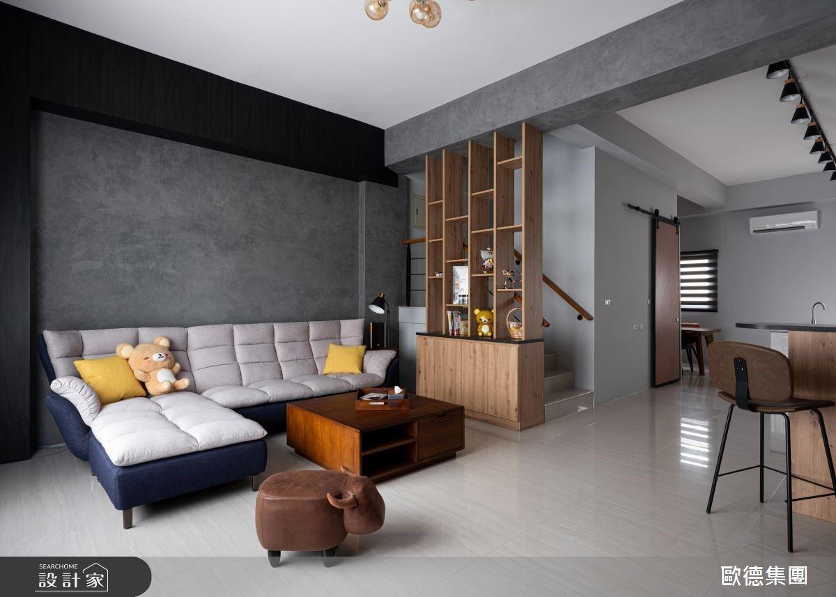 家是風格旅店!特殊塗料、系統櫃、中島與穀倉門,特調時尚輕工業透天宅