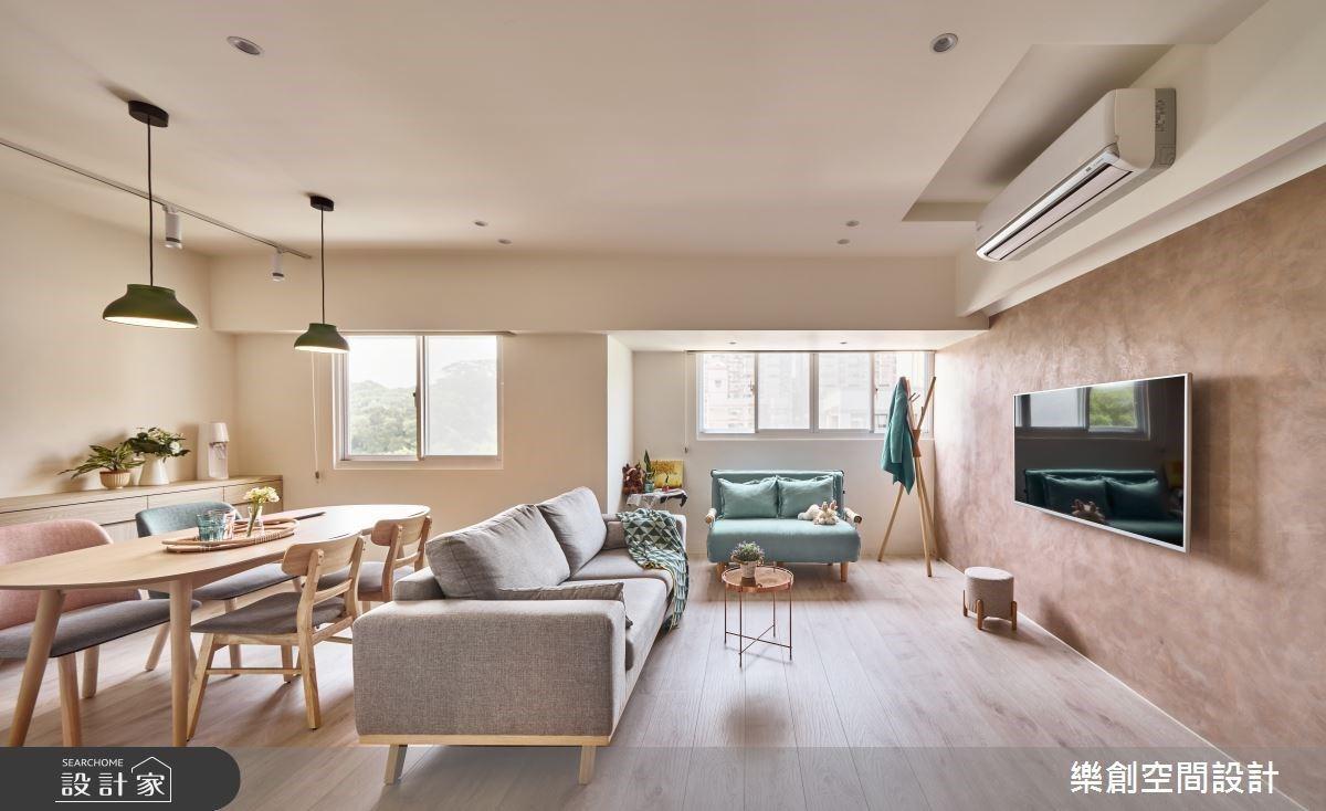 整天待在家也不膩! 22 坪暖藕色現代單身宅 實踐休閒、瑜珈的完美日常!