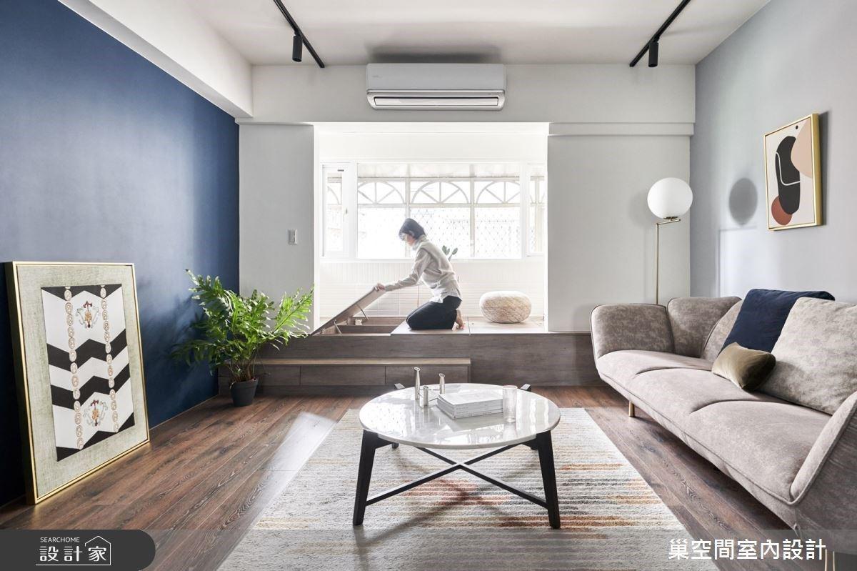 復古藍調描繪簡約居宅輪廓,摩登餐廚空間盡享舉杯歡慶的美好