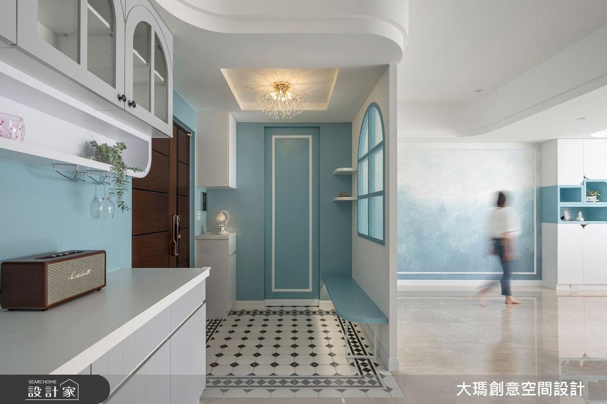 藍白色調 X 室內窗景 X 隱藏收納,打造令人怦然心動的優雅美宅!
