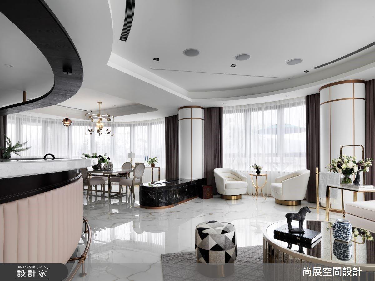 360 度景觀花園、圓弧 Lounge Bar!媲美歐美精品酒店的夢幻新古典宅