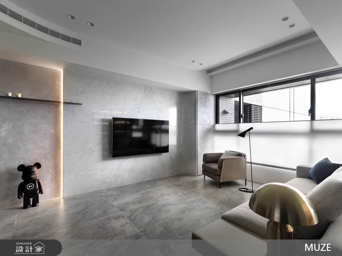 釋放焦慮與疲憊!25坪現代風以透明隔間創造豐富體驗的多功能房