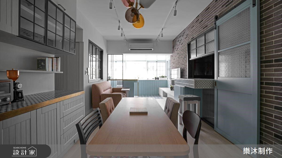 北歐色調混搭美式與工業元素!26 坪老屋翻新活出年輕樣貌