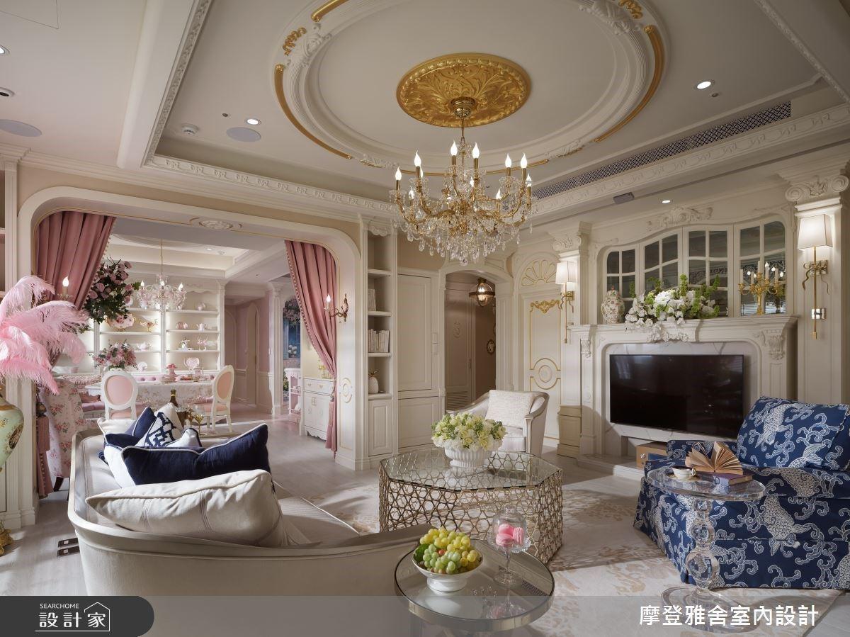 50坪中古屋化身粉嫩系新古典宅,盡享浪漫的法式午茶饗宴