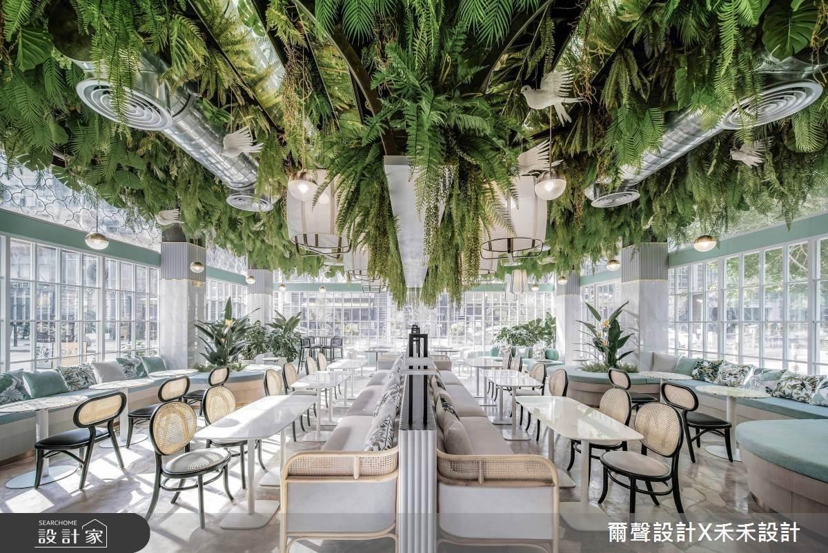 將森林搬入商業空間,英式語彙與東方古典美融匯沉浸式飲茶體驗