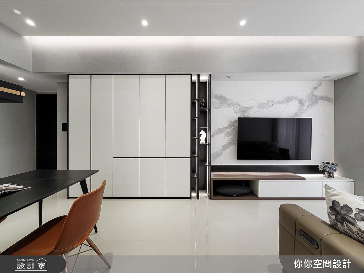 小坪數也能過得大器非凡!18坪黑白現代風,以愛馬仕橘跳出空間新高度
