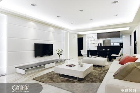 特色簡潔電視牆 開放式客餐空間再放大