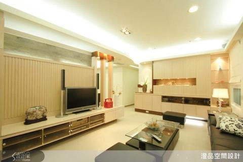簡約又富現代感,這樣櫃體混搭讓家好俐落