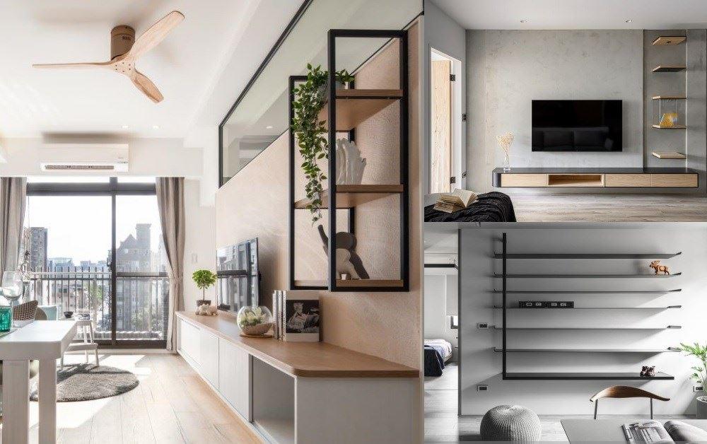 【收納不落地】玄關&客廳篇:善用層板、吊櫃與牆面收納設計,小坪數收好收滿無負擔
